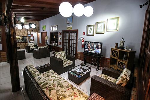 Sala de espera e TV